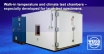 Walk-in climate cabinets, temperature test chambers