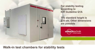 Walk-in test chambers, stability tests, Votsch