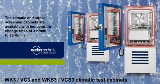 WK3, VC3, WKS3, VCS3 climatic and stress screening cabinets
