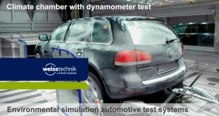 Climate chamber with dynamometer test