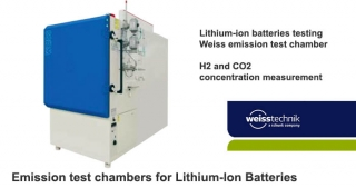 Lithium-ion batteries testing 1, emission test chamber