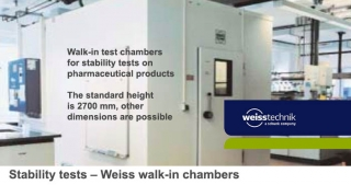 Walk-in pharma test chamber