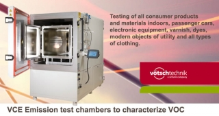 VCE Emission test chambers, Votsch