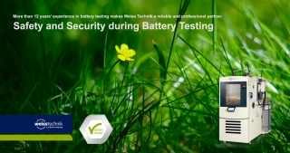 Safety and security during battery testing