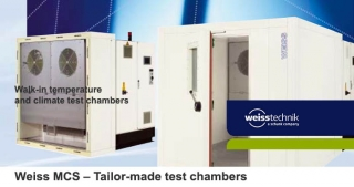Walk-In temperature and climate chambers