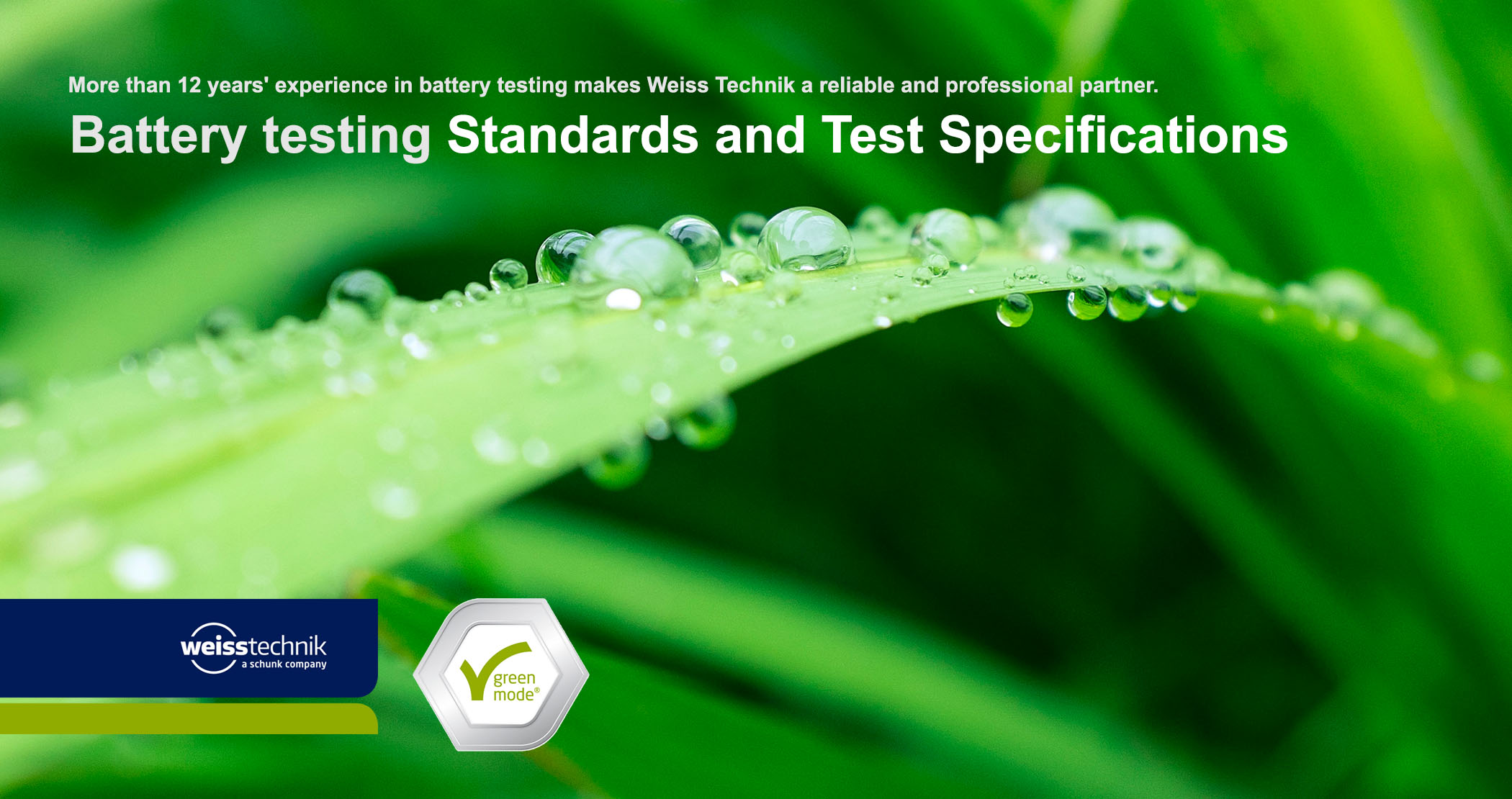 Battery testing standards and test specifications