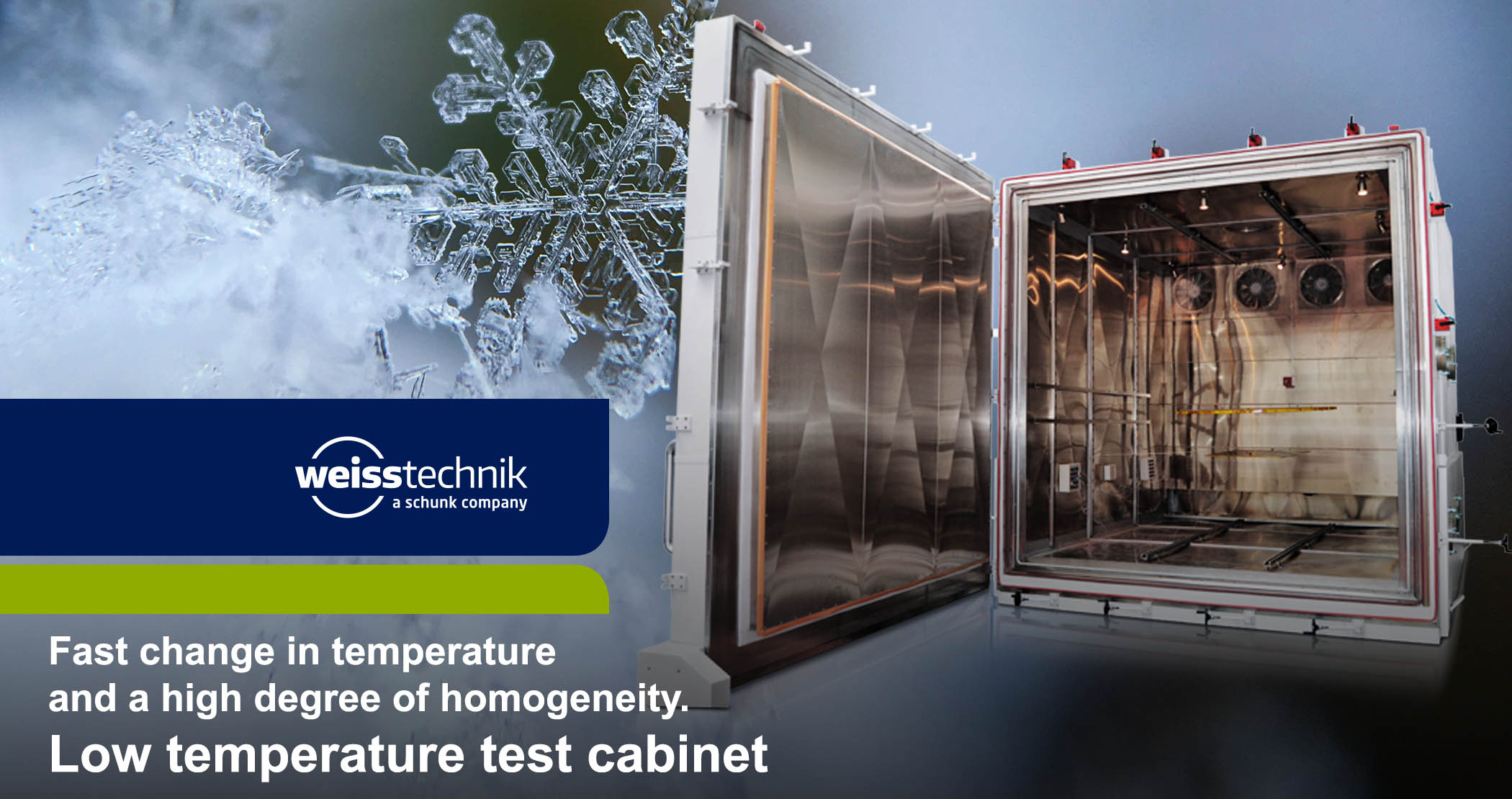 Low temperature test cabinet