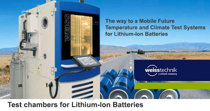 Lithium-ion, test chambers