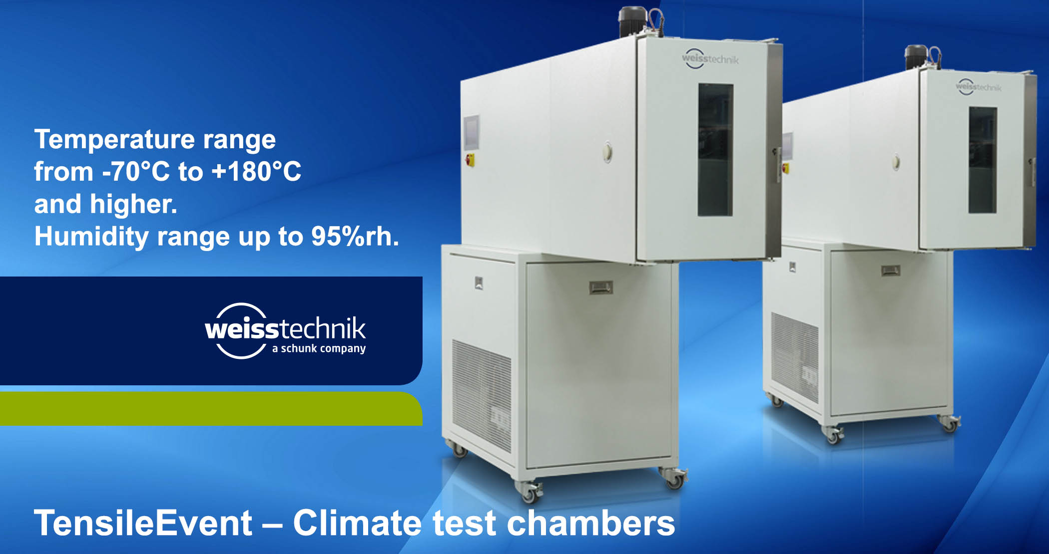 TensileEvent climate test chambers