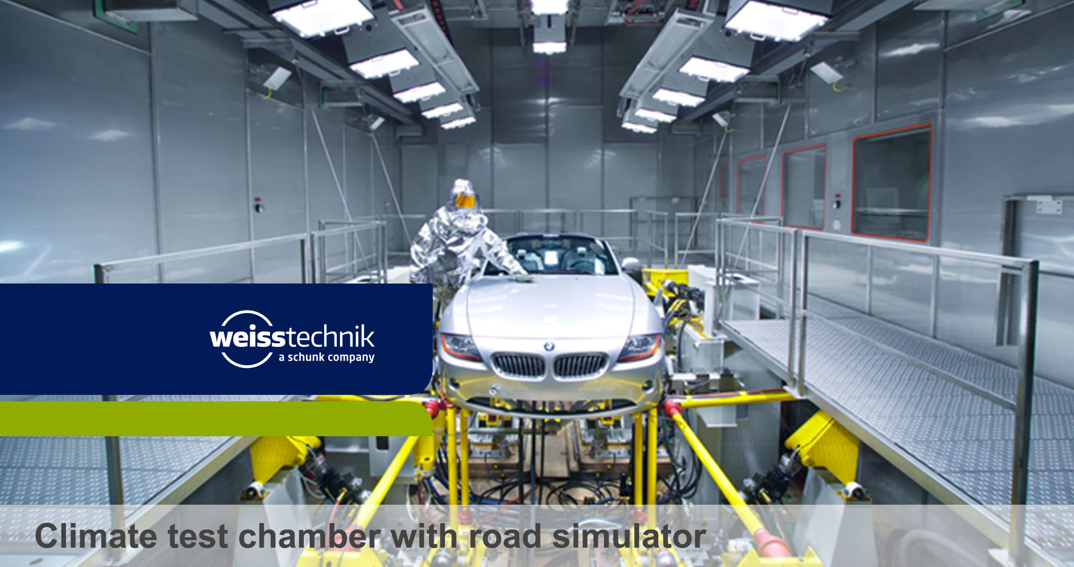 Climate Test Chamber With Road Simulator Automotive Test
