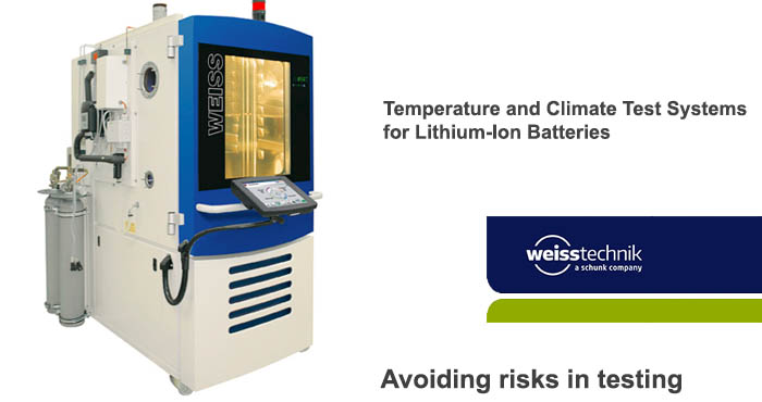 Lithium-ion batteries testing 6, Weiss test systems