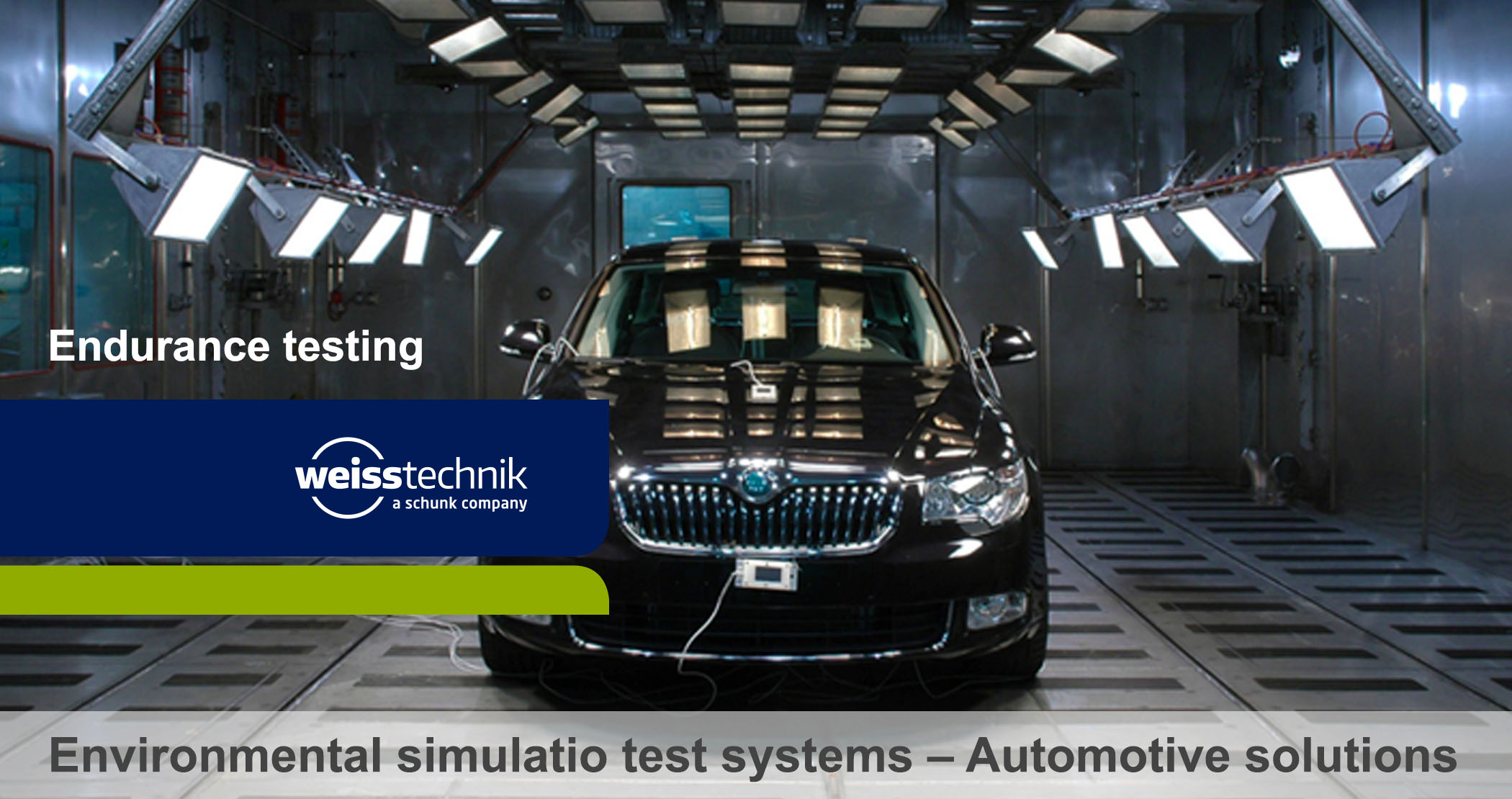 Automotive test chambers, functional, security tests, Weiss
