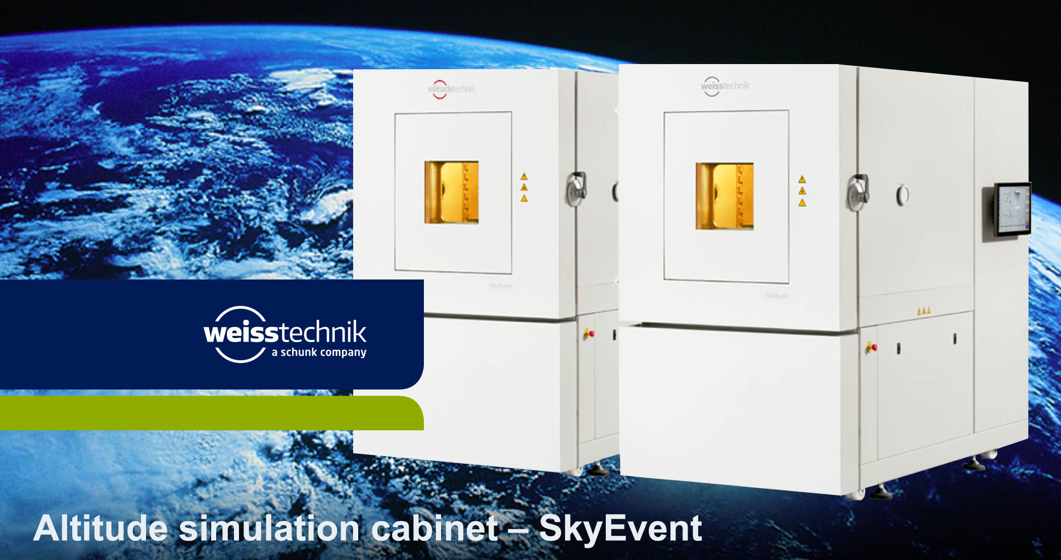 Altitude simulation cabinet, SkyEvent