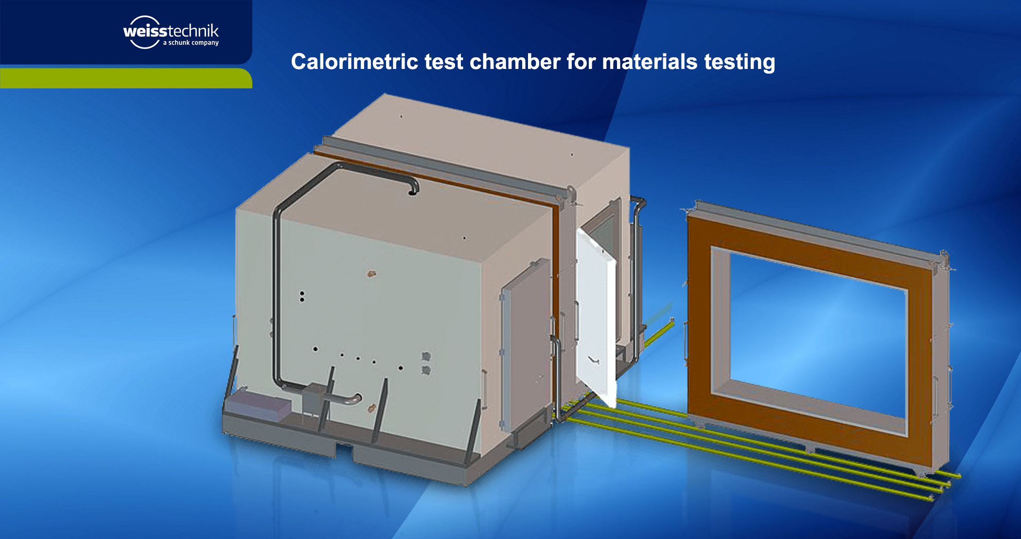 Calorimetric test chamber for materials testing