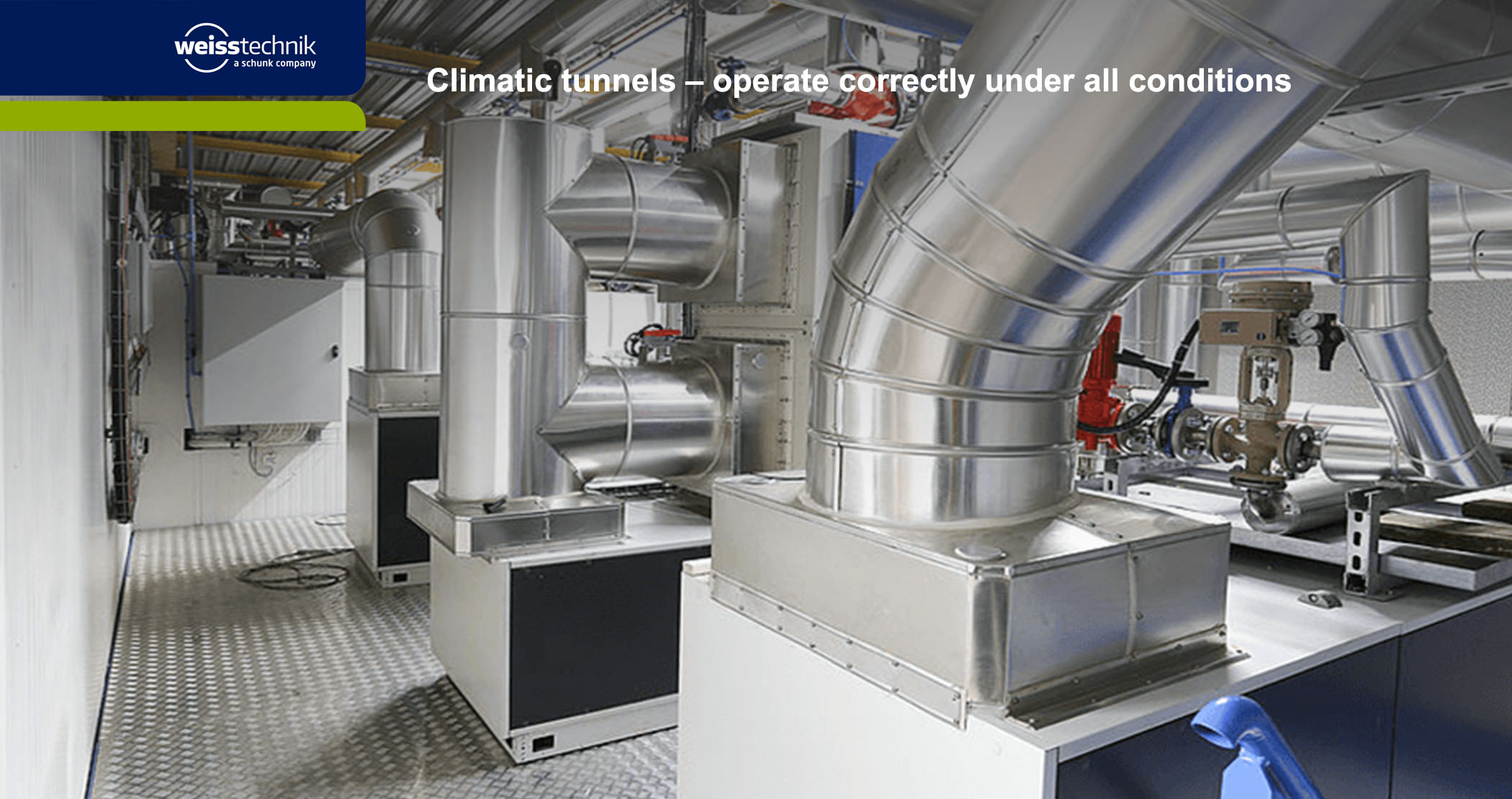 Climatic test tunnels