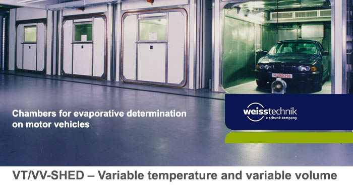 VT-Shed, VV-Shed, temperature and climate test chambers