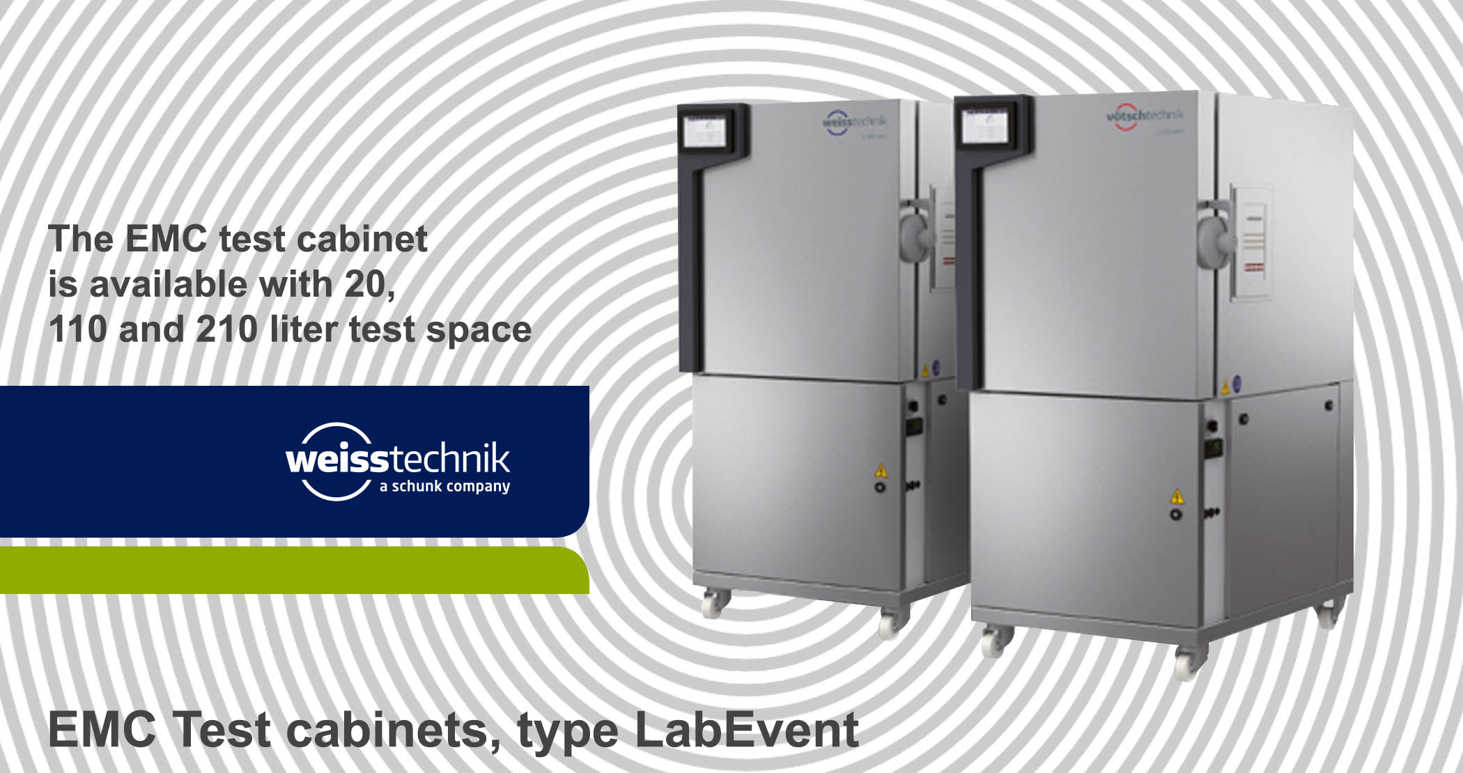 EMC Test cabinets, type LabEvent - Laboratory test chambers